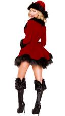 Dark Santa Costume - Red/Black