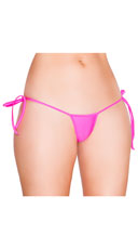 Low Cut Tie Side G-String - Hot Pink