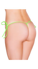 Low Cut Tie Side G-String - Lime