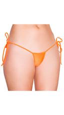 Low Cut Tie Side G-String - Orange