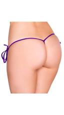 Low Cut Tie Side G-String - Purple