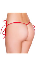 Low Cut Tie Side G-String - Red