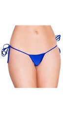 Low Cut Tie Side G-String - Royal Blue
