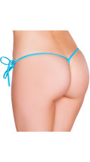 Low Cut Tie Side G-String - Turquoise