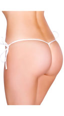 Low Cut Tie Side G-String - White