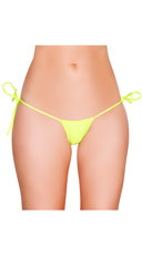 Low Cut Tie Side G-String - Yellow
