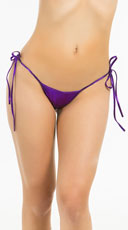 Metallic Tie Side Scrunch Bottom - Purple