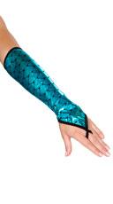 Fingerless Mermaid Gloves - Blue