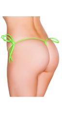 String Back Tie Side Bottom - Lime