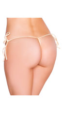 String Back Tie Side Bottom - Nude