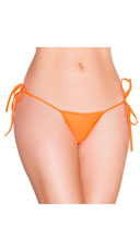 String Back Tie Side Bottom - Orange