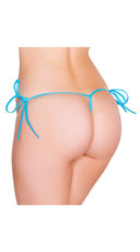 String Back Tie Side Bottom - Turquoise