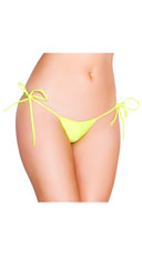String Back Tie Side Bottom - Yellow