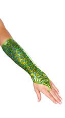 Fingerless Mermaid Gloves - Sea Foam Green