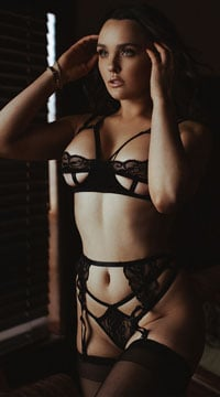 Open Cup Cage Bra Set - Black