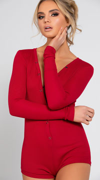 Cozy and Comfy Sweater Romper - Burgundy