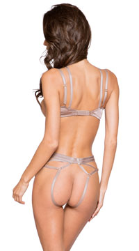 Caged To Perfection Bra Set - Beige