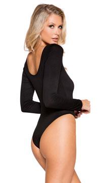 Cozy long Sleeve Bodysuit - Black