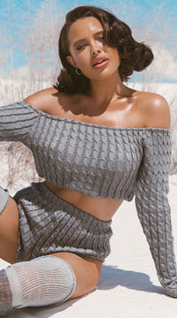 Cozy and Comfy Lounge Short Set - Grey