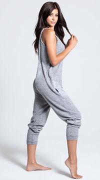 Comfy Pajama Pocket Jumpsuit - Grey