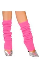 Solid Color Calf High Warmers - Hot Pink