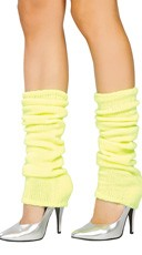 Solid Color Calf High Warmers - Yellow