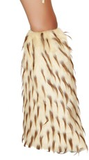 Two Tone Furry Leg Warmers - Camel/Brown