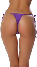 Low Cut Tie Side Thong - Purple