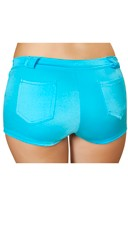 Shorts With Pocket Detail - Turquoise