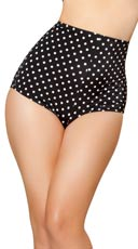Sexy High Waisted Shorts - Black/White Polka Dots