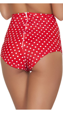 Sexy High Waisted Shorts - Red/White Polka Dot