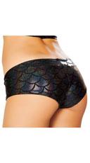 Iridescent Mermaid Shorts - Black