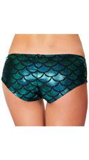 Iridescent Mermaid Shorts - Blue/Black