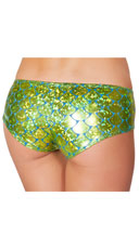 Iridescent Mermaid Shorts - Lime