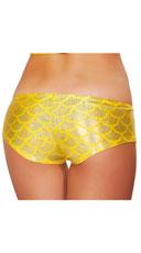 Iridescent Mermaid Shorts - Yellow