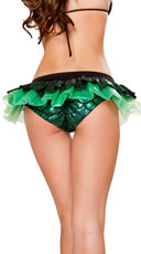 Iridescent Skirted Mermaid Shorts - Green