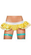 Iridescent Skirted Mermaid Shorts - Yellow