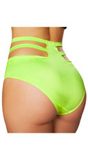 High Waisted Cut-Out Shorts - Lime