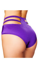 High Waisted Cut-Out Shorts - Purple