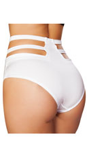High Waisted Cut-Out Shorts - White