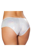 Shimmering Booty Shorts - Silver