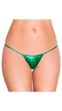 Metallic Thong Panty - Hunter Green