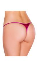 Metallic Thong Panty - Pink