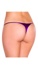 Metallic Thong Panty - Purple