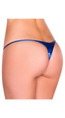 Metallic Thong Panty - Royal Blue