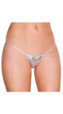 Metallic Thong Panty - Silver