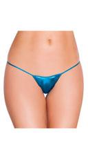 Metallic Thong Panty - Turquoise