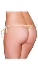 Sexy Side Tie Thong - Nude