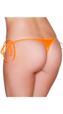Sexy Side Tie Thong - Orange