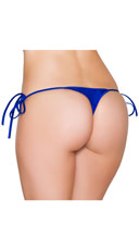 Sexy Side Tie Thong - Royal Blue